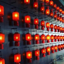 Hutong red lanterns