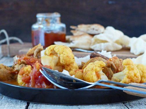 curry kip bloemkool Smulpaapje