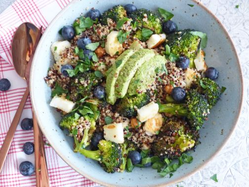 Quinoasalade geroosterde broccoli Smulpaapje