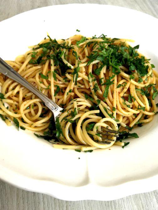 Spaghetti aglio, olio e peperoncino Smulpaapje