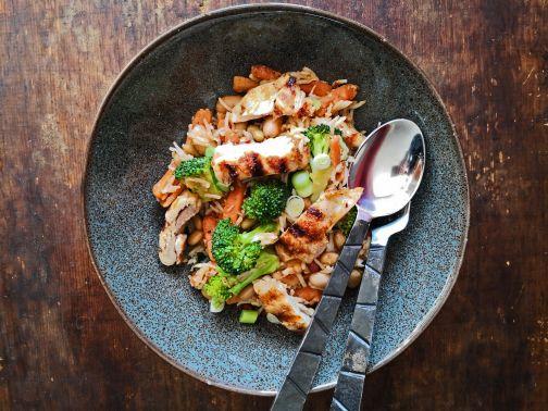 rijstsalade gegrildekip Smulpaapje