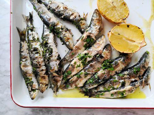 Sardines BBQ klaar Smulpaapje