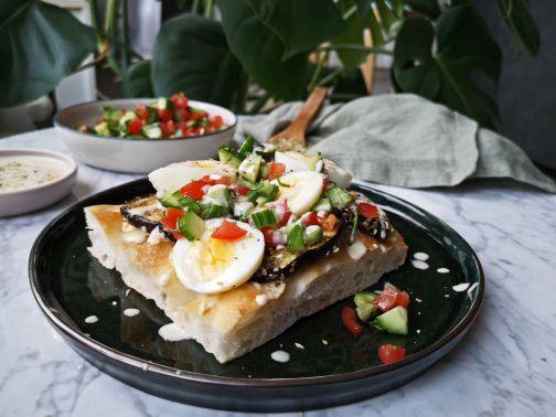 Pita aubergine - sabich Smulpaapje