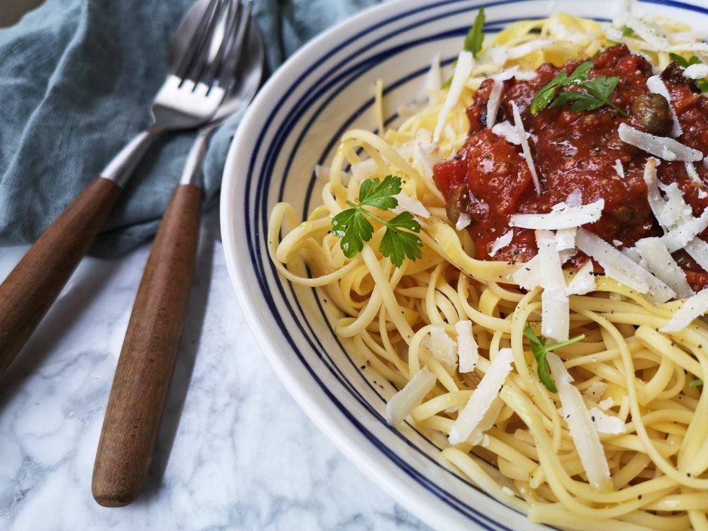 puttanesca pastasaus