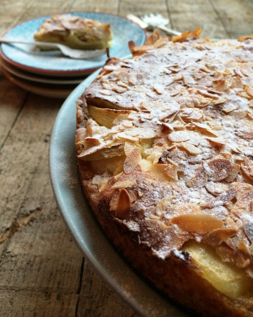 appeltaart met custard