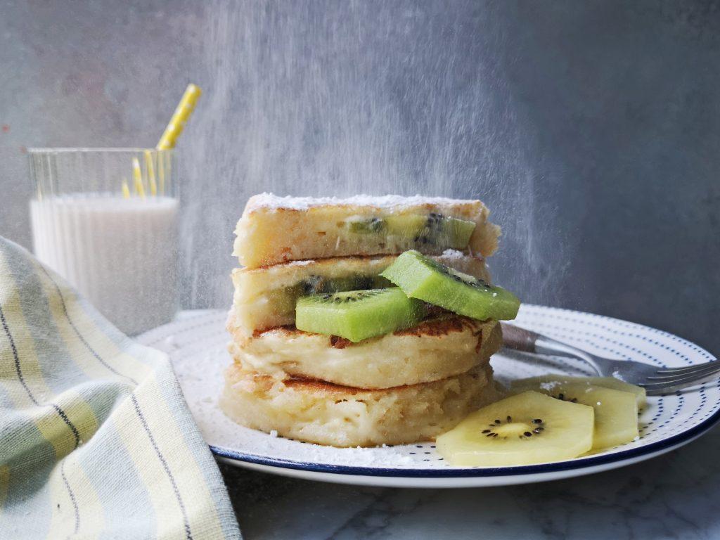 pancakes met kiwi