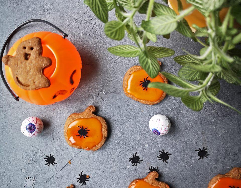 koekjes versierd voor halloween