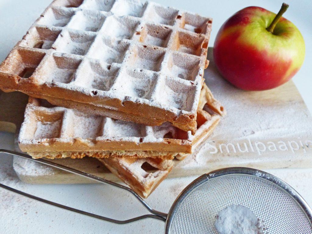 wafels met appel
