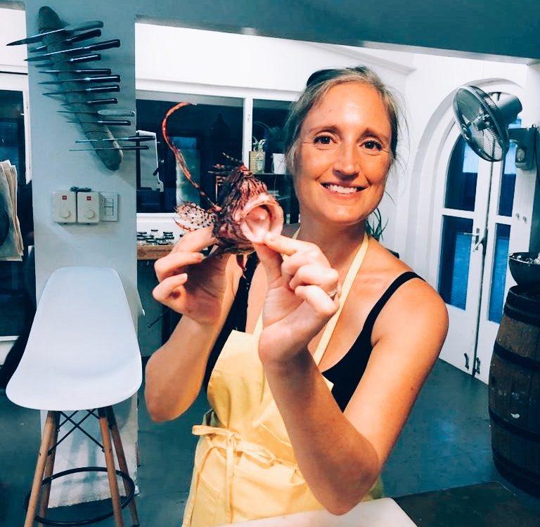 Maaike met Lionfish