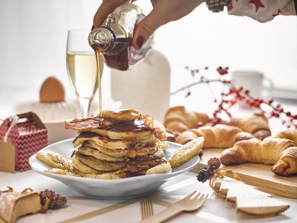 kerstontbijt met pancakes