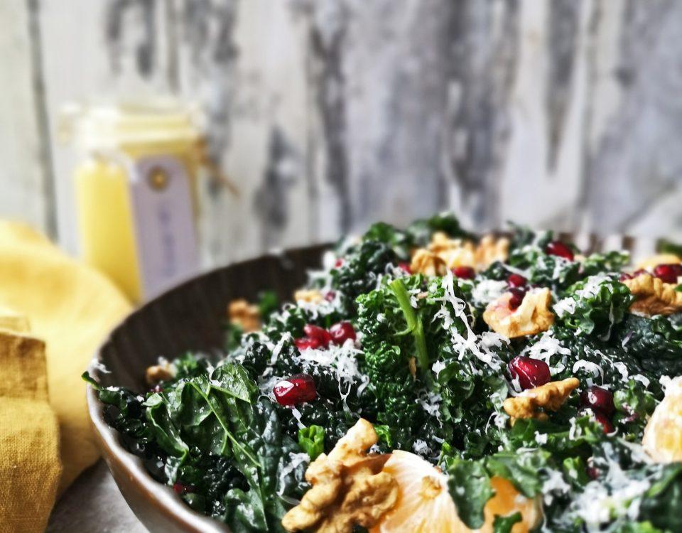 winter salade met palmkool