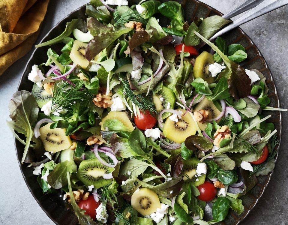 salade met zespri kiwi