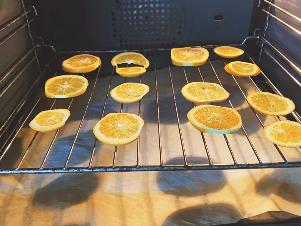 drogen van sinaasappel