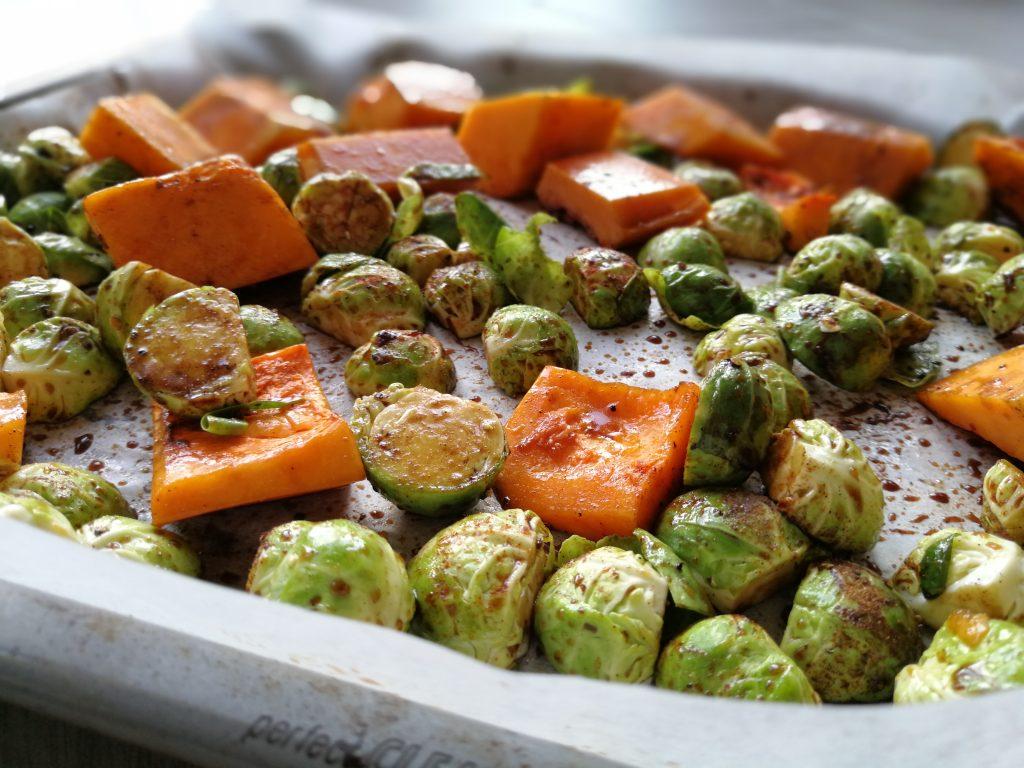 bakplaat met groente