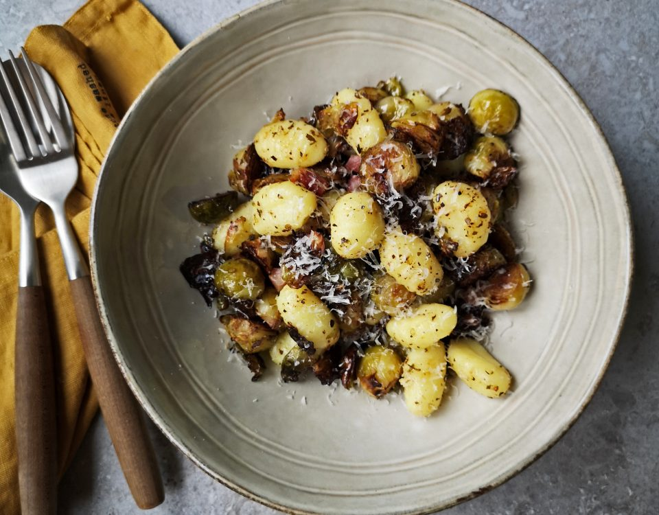 snelle spruitjes met gnocchi