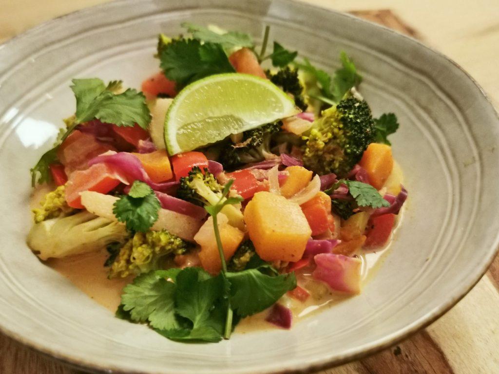 curry met groente