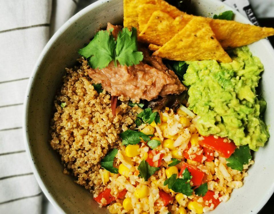 vegan mexicaanse maaltijd