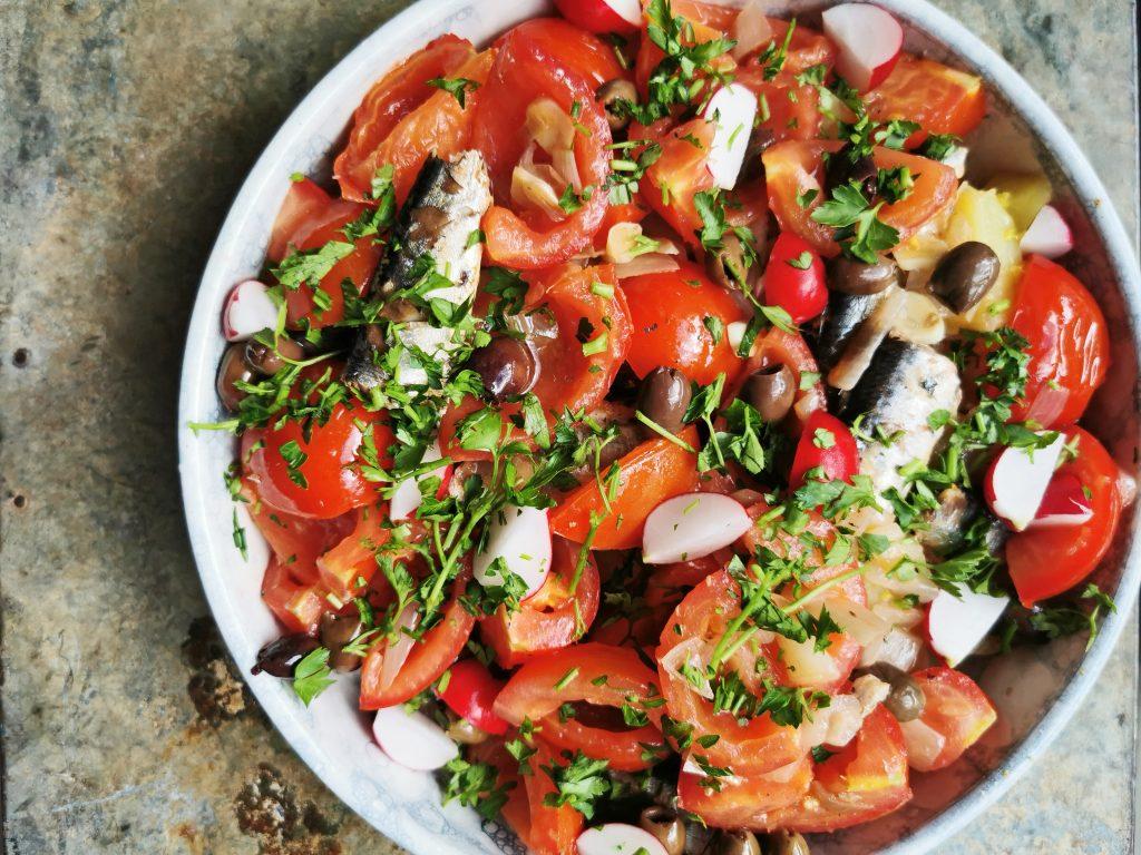 aardappelsalade tomaat