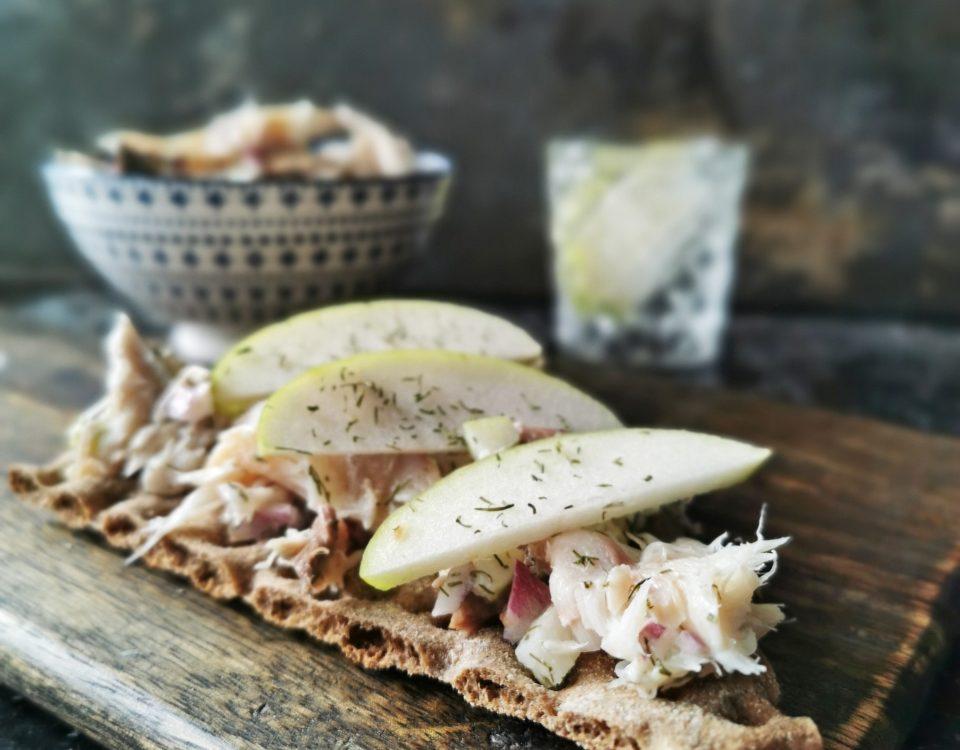 salade met makreel