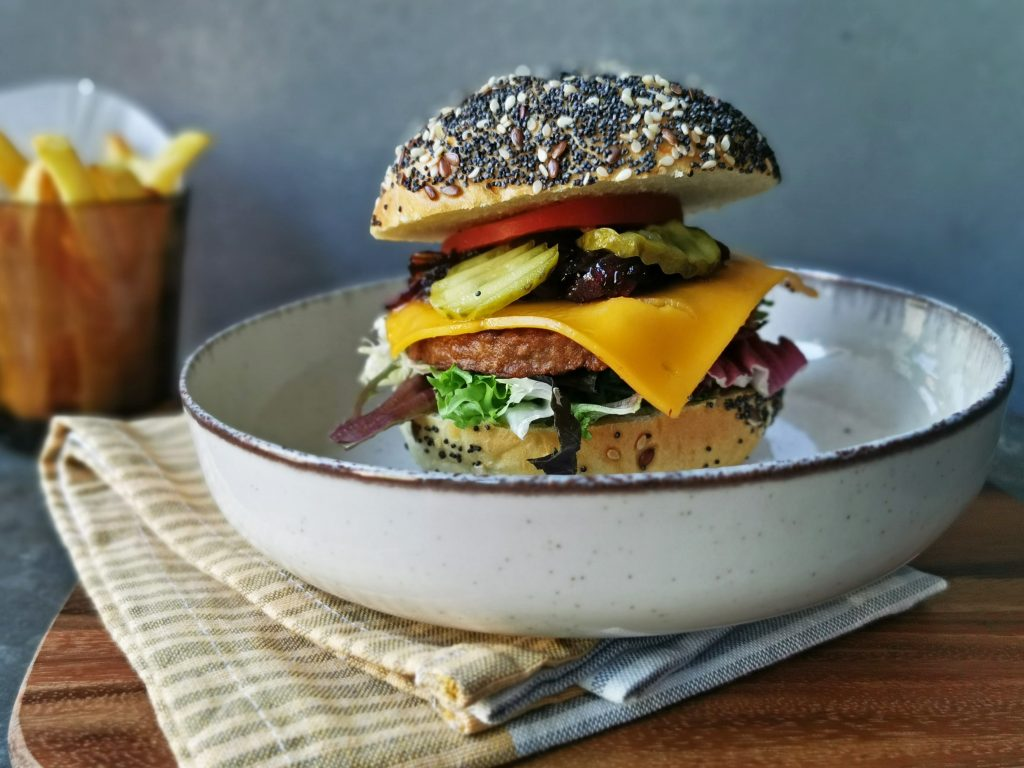 vega hamburger op brioche