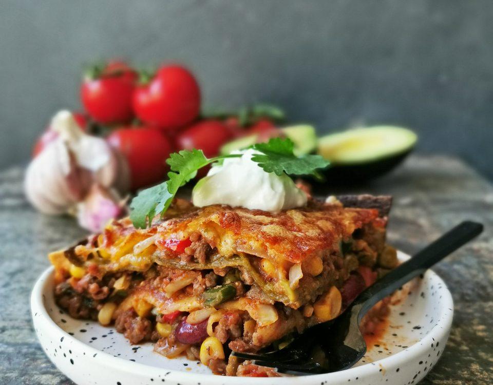 taco lasagne recept
