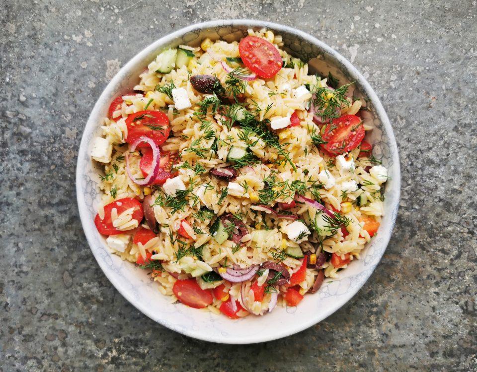 salade met orzo
