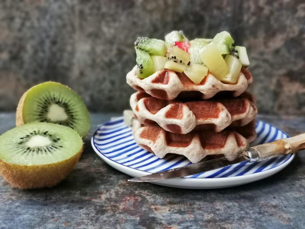 Luikse wafels recept met kiwi