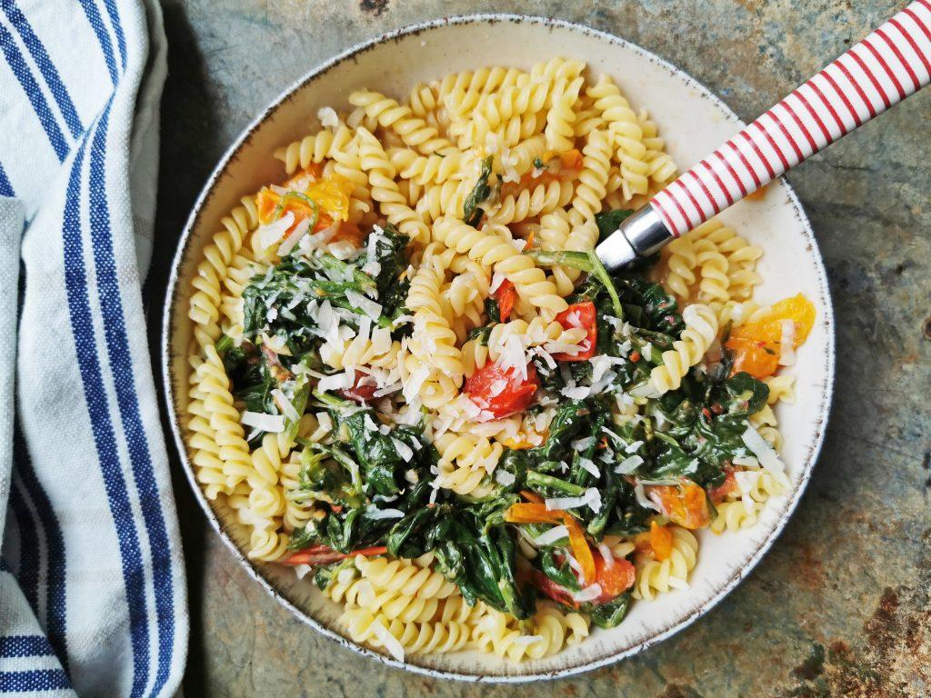 makkelijke pasta met groente