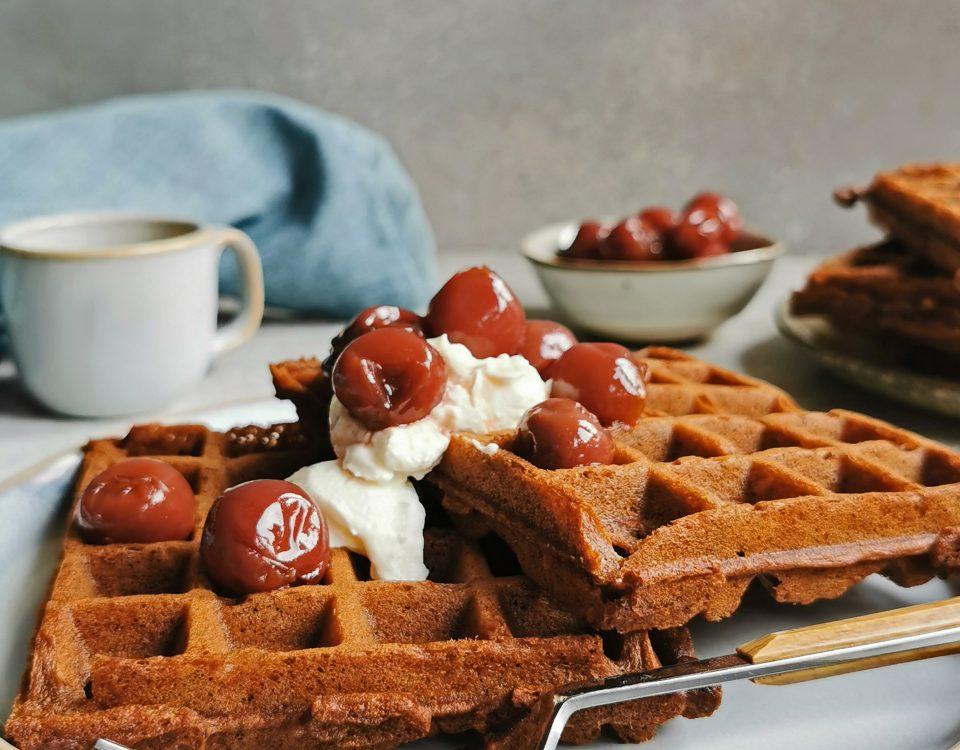 wafels met chocola